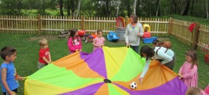 Parachute and Ball Cooperation Game