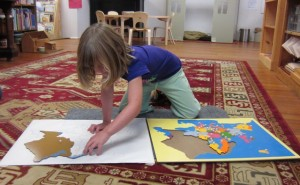 placing the countries on her map of Europe