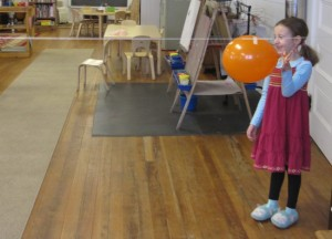 releasing the balloon rocket