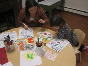 making spanish food bingo cards