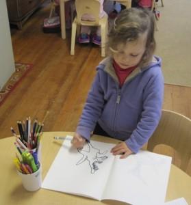 the illustrator hard at work