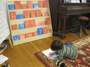 writing the alphabet
