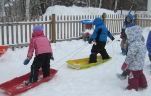 sled boarding