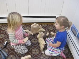 girls and blocks