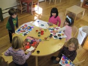 Kandinsky style circle art