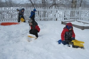 shoveling roads