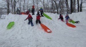 Thursday afternoon sledding