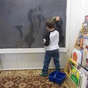 chalkboard cleaning