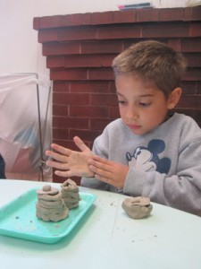 Creating clay pots