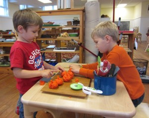 opening play dough pumkins