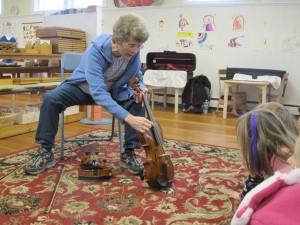 strings on a viola
