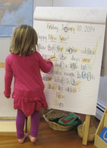circling letter sounds
