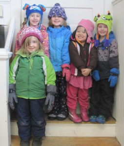 Friday kids ready to head outside