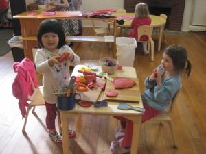 play dough girls