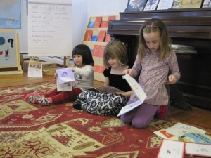 reading to friends