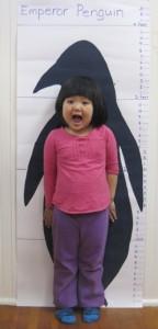 As tall as an Emperor Penguin?