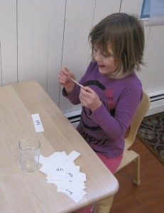 reading word strips