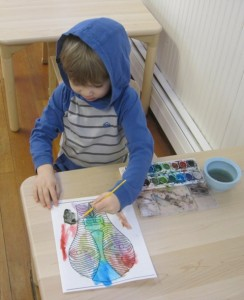 water color mask painting