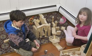 constructing houses