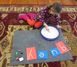 practicing some tricky letters