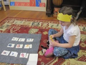 "a princess making an ""a"" book"