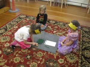 princesses doing dice addition