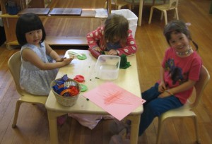 play dough with friends