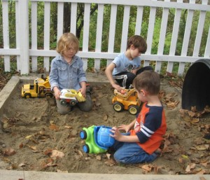 boys in the sand box