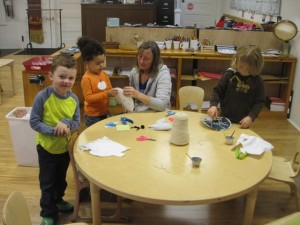 making spider webs and spiders