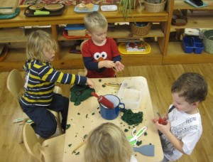 play dough time with friends