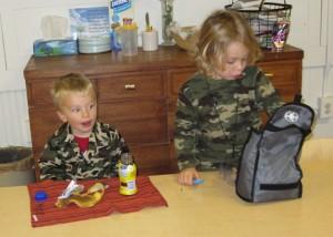 army guys having snack