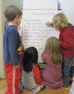 circling letters from the Friday message