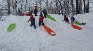 Thursday afternoon sledding