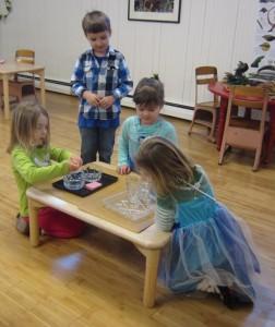 princesses pouring