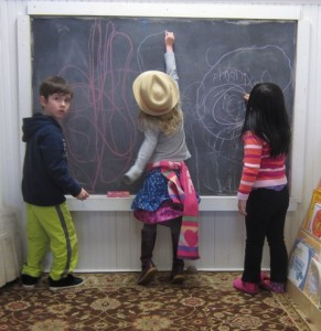 writing on the chalkboard