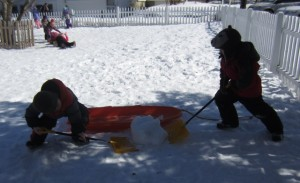 digging out the snowball