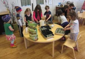 preparing the pots