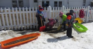 digging out the ice
